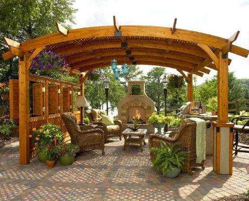 Садовая пергола-туннель